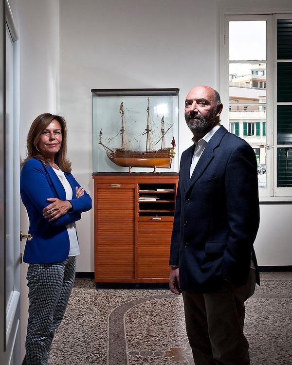Valeria Crovetto e Michele Guidi, fondatori di Goa Reefer Logistic. La società è specializzata nella catena logistica e di distribuzione import/export dei prodotti deperibili refrigerati e congelati a livello internazionale.