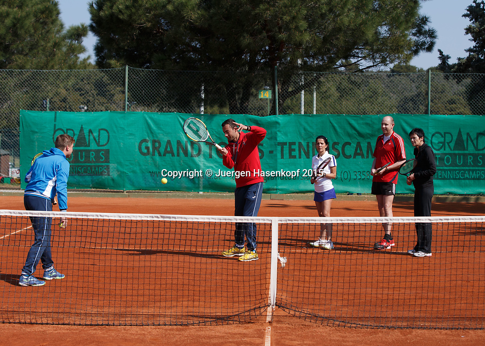 Grand Tours Tenniscamp von Ewald Grandits, Pula, Kroatien<br /> <br /> travel - Grand Tours Tenniscamp -  -   - Pula -  - Croatia  - 12 April 2015. <br /> &copy; Juergen Hasenkopf