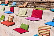 Cushions at Nepenthe, Big Sur, California
