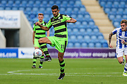 Forest Green Rovers Omar Bugiel(11) controls the ball during the EFL Sky Bet League 2 match between Colchester United and Forest Green Rovers at the Weston Homes Community Stadium, Colchester, England on 26 August 2017. Photo by Shane Healey.