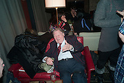 PETER MARSH, The Diaries of Fleet Street Fox  by Susie Boniface- book launch party<br /> Century Club, 61-63 Shaftesbury Avenue, London, 18 February 2013