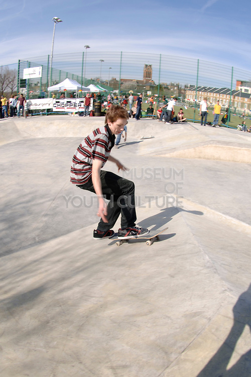 Adam Ham, Frontside Alleyoop Kickflip, Cantelowes Park, London 2006