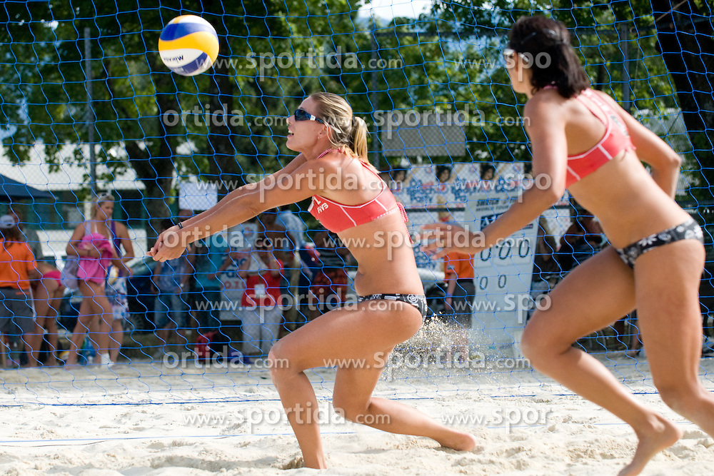 Cristine Santanna and Andrezza Martins Das Chagas of Georgia at A1 Beach Volleyball Grand Slam tournament of Swatch FIVB World Tour 2010, on July 28, 2010 in Klagenfurt, Austria. (Photo by Matic Klansek Velej / Sportida)