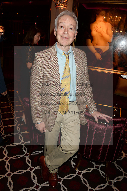 NICKOLAS GRACE at a party to celebrate the publication of 'Passion for Life' by Joan Collins held at No41 The Westbury Hotel, Mayfair, London on21st October 2013.