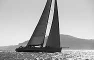 Mike Slade's super-maxi yacht. Leopard competes in the JPMorgan Asset Management Round the Island Race. Isle of Wight.<br /> Picture date: Saturday June 27, 2015.<br /> Photograph by Christopher Ison &copy;<br /> 07544044177<br /> chris@christopherison.com<br /> www.christopherison.com