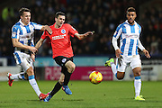 Brighton & Hove Albion winger Jamie Murphy (15) during the EFL Sky Bet Championship match between Huddersfield Town and Brighton and Hove Albion at the John Smiths Stadium, Huddersfield, England on 2 February 2017.