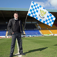 St Johnstone manager Tommy Wright pictured at McDiarmid Park this morning after his teams historic semi-final victory over Aberdeen to reach the Scottish Cup Final on May 17th.<br /> Picture by Graeme Hart.<br /> Copyright Perthshire Picture Agency<br /> Tel: 01738 623350  Mobile: 07990 594431