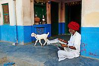 Inde, Rajasthan, village de Nimaj dans les environs de Jodhpur, Bagadaram, 40 ans// India, Rajasthan, Nimaj village around Jodhpur, Bagadaram, 40 old