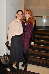 Left to right, LADY PINSENT wife of Sir Matthew Pinsent and CHARLOTTE TILBURY at the UK Premiere of The Uncondemned hosted by Women for Women International at BAFTA, 195 Piccadilly, London on 2nd November 2016.