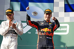 March 17, 2019 - Melbourne, Australia - Motorsports: FIA Formula One World Championship 2019, Grand Prix of Australia, ..#77 Valtteri Bottas (FIN, Mercedes AMG Petronas Motorsport), #33 Max Verstappen (NLD, Aston Martin Red Bull Racing) (Credit Image: © Hoch Zwei via ZUMA Wire)