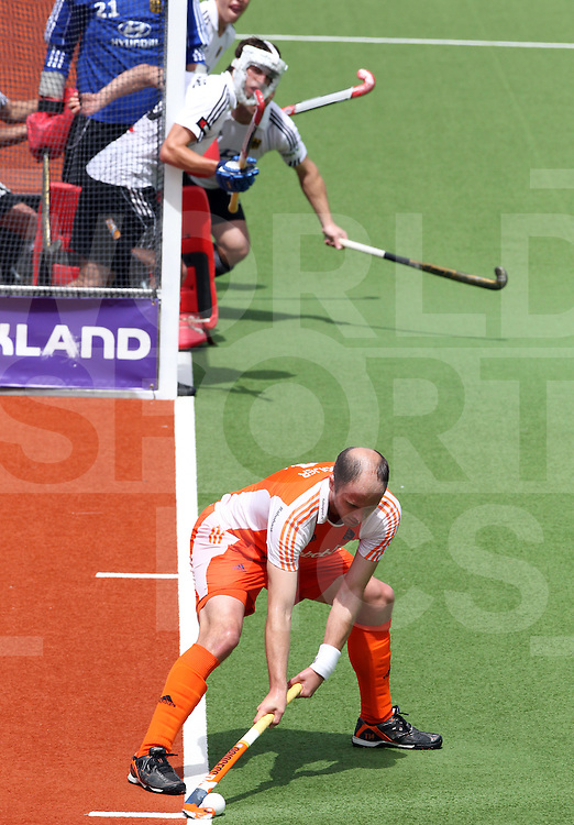 Mens Champions Trophy, Auckland, New Zealand 2011. Day 2 Netherland v Germany 5/12/2011.Teun De Nooijer..Photo: Grant Treeby.one off Editorial Use only,( no archiving )......................Photo: Grant Treeby...Editorial use only (No Archiving) Unless previously arranged