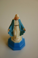 Virgin Mary plastic statue ornament