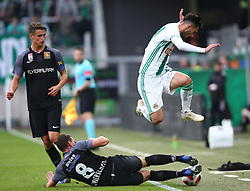 28.10.2018, Allianz Stadion, Wien, AUT, 1. FBL, SK Rapid Wien vs FC Flyeralarm Admira, 12. Runde, im Bild Wilhelm Vorsager (FC Flyeralarm Admira), Stephan Zwierschitz (FC Flyeralarm Admira) und Andrei Virgil Ivan (SK Rapid Wien) // during Austrian Football Bundesliga Match, 12th Round, between SK Rapid Vienna and FC Flyeralarm Admira at the Allianz Arena, Vienna, Austria on 2018/10/28. EXPA Pictures © 2018, PhotoCredit: EXPA/ Thomas Haumer
