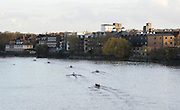 London, Great Britain,   General View at the start of the 2009Veterans Fours of the River Race, raced over the Championship Course, Mortlake to Putney, on the River Thames.   Sunday, 15/11/2008. [Mandatory Credit: Karon Phillips/Intersport Images]
