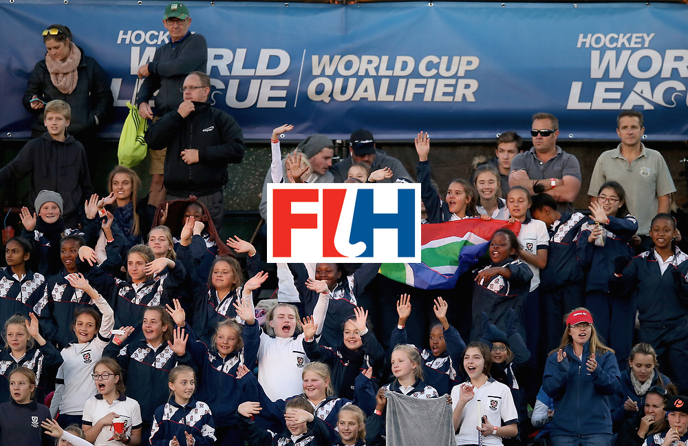 JOHANNESBURG, SOUTH AFRICA - JULY 12: Fans celebrate after day 3 of the FIH Hockey World League Semi Finals Pool A match between Japan and England at Wits University on July 12, 2017 in Johannesburg, South Africa. (Photo by Jan Kruger/Getty Images for FIH)