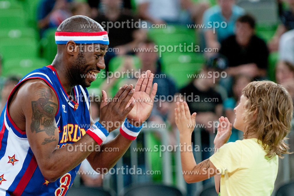 at The Harlem Globetrotters Show, on May 26, 2011 in SRC Stozice, Slovenia. (Photo by Matic Klansek Velej / Sportida)
