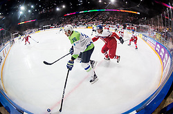 Jan Urbas of Slovenia vs Jakub Krejcik of Czech Republic during the 2017 IIHF Men's World Championship group B Ice hockey match between National Teams of Czech Republic and Slovenia, on May 12, 2017 in AccorHotels Arena in Paris, France. Photo by Vid Ponikvar / Sportida