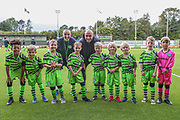 Forest Green Rovers Farrend Rawson(6) with the Academy U8's  during the EFL Trophy match between Forest Green Rovers and U21 Southampton at the New Lawn, Forest Green, United Kingdom on 3 September 2019.