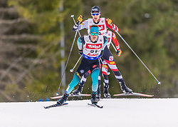 01.02.2020, Seefeld, AUT, FIS Weltcup Nordische Kombination, Langlauf, Gundersen 10 Km, im Bild Antoine Gerard (FRA) // Antoine Gerard of France during the Gundersen 10 Km Cross Country Competition of FIS Nordic Combined World Cup at the Seefeld, Austria on 2020/02/01. EXPA Pictures © 2020, PhotoCredit: EXPA/ Stefan Adelsberger