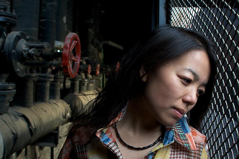 Portrait of a woman in the art district of Beijing called 798<br /> <br /> Portrait einer Frau im Peking K&uuml;nstlerviertel 798