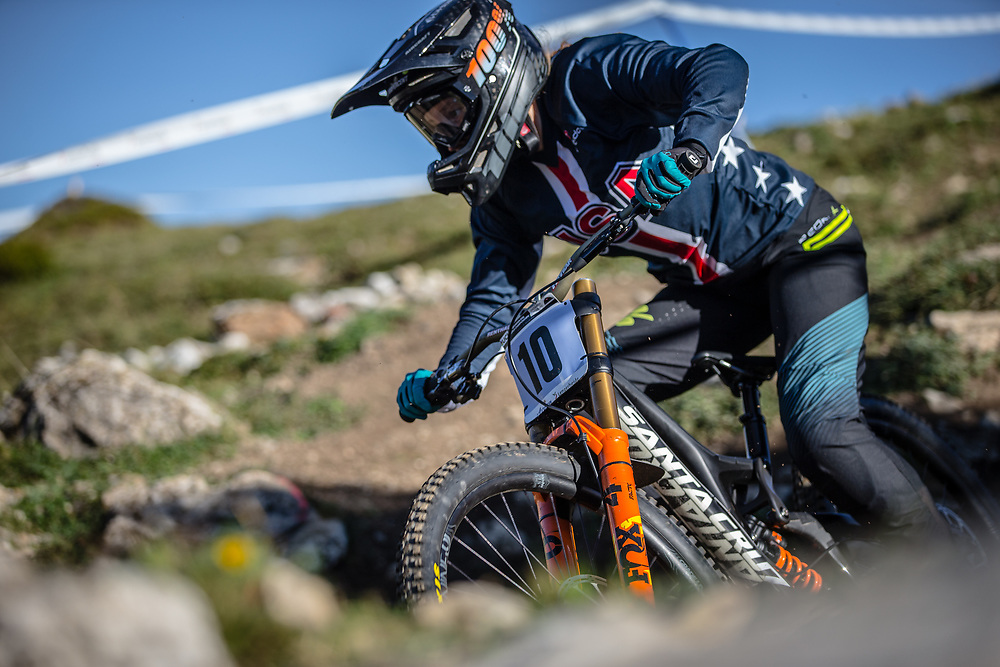 Kaytlin Melvin (USA) at the 2018 UCI MTB World Championships - Lenzerheide, Switzerland
