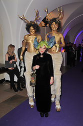 LULU GUINNESS and entertainers at The Surrealist Ball in aid of the NSPCC in association with Harpers Bazaar magazine held at the Banqueting House, Whitehall, London on 17th March 2011.