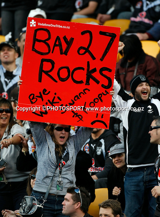 Warriors fans. NRL, Vodafone Warriors v Penrith  Panthers, Mt Smart Stadium, Auckland, Sunday 31 August 2008. Photo: Andrew Cornaga/PHOTOSPORT