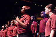 The Central State University Chorus during the 2009 Dayton Literary Peace Prize dinner and awards presentation at the Schuster Center in downtown Dayton, Sunday November 08, 2009.