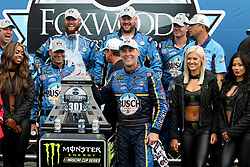 July 22, 2018 - Loudon, NH, U.S. - LOUDON, NH - JULY 22: Kevin Harvick, driver of the #4 Busch Beer Ford  celebrates winning the Monster Energy Cup Series Foxwoods Resort Casino 301 race on July, 21, 2018, at New Hampshire Motor Speedway in Loudon, NH. (Photo by Malcolm Hope/Icon Sportswire) (Credit Image: © Malcolm Hope/Icon SMI via ZUMA Press)