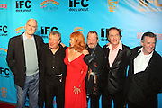 l to r: John Cleese, Terry Jones, Carol Cleveland, Terry Gilliam, Eric Idle, Michael Palin at The Special IFC and BAFTA hosted event with The Monty Python troupe celebrating the 40th Anniversary and premiere of the IFC documentary ' Monty Python: Almost The Truth (The Lawyer's Cut)' held at The Ziegfield Theater on October 15, 200