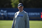 Nov 9, 2017; Costa Mesa, CA, USA; Los Angeles Chargers offensive coordinator Ken Whisenhunt reacts during practice at the Hoag Performance Center.