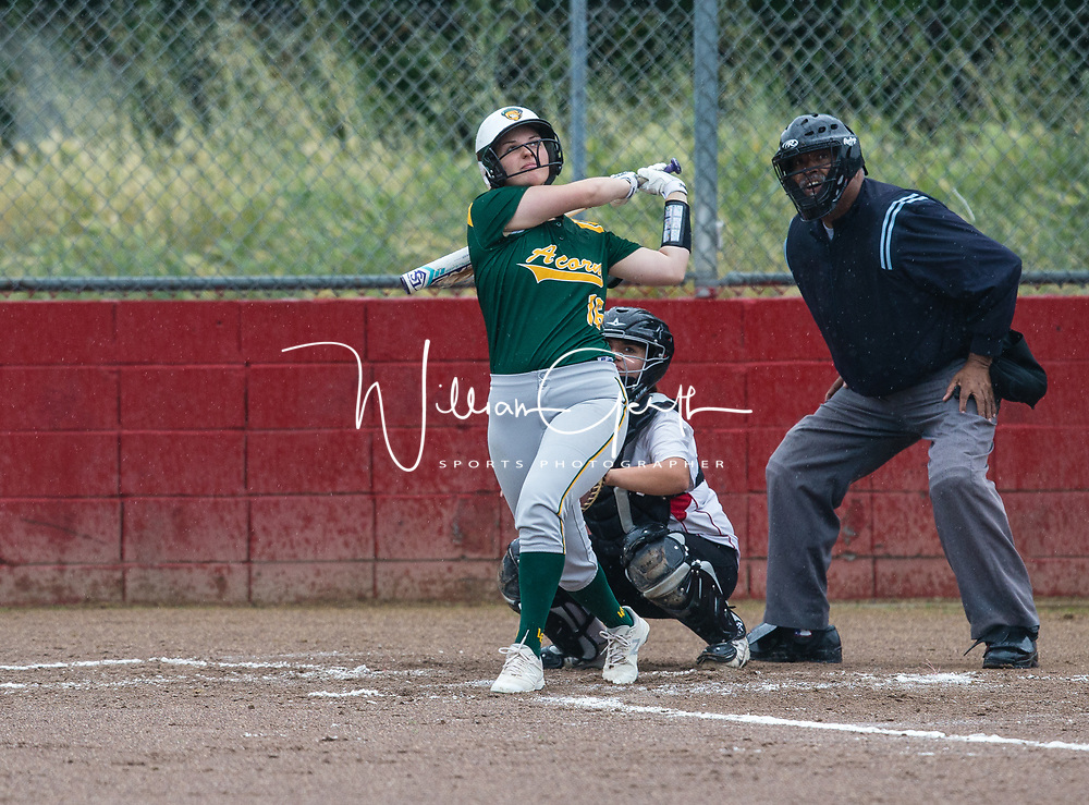 (Photograph by Bill Gerth/ for MaxPreps/4/17/17) Live Oak vs Westmont in a BVAL girls varsity softball game at Westmont High School, Campbell CA on 4/17/17.