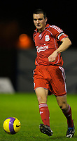 Fotball<br /> England<br /> Foto: Propaganda/Digitalsport<br /> NORWAY ONLY<br /> <br /> WARRINGTON, ENGLAND - Tuesday, November 13, 2007: Liverpool's Jack Hobbs in action against Blackburn Rovers during the FA Premiership Reserves League (Northern Division) match at the Halliwell Jones Stadium.