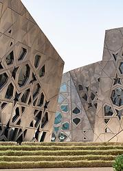Exterior of new Sheikh Jaber Al-Ahmad Cultural Centre in Kuwait City , Kuwait