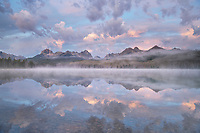 Little Redfish Lake at sunrise. Sawtooth Mountains Idaho