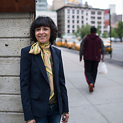 May 17, 2016 - New York, NY : French researcher in Microbiology, Genetics, and Biochemistry, Emmanuelle Charpentier, poses for a portrait at the corner of Grand Street and 6th Avenue in Manhattan on Tuesday morning. Charpentier, who is known for her role in discovering the CRISPR-Cas9 gene-editing technique, was in town to receive a Doctor of Science degree, honoris causa, from New York University. CREDIT: Karsten Moran for The New York Times