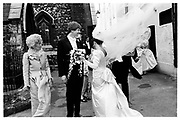 Wedding of Pru Murdoch and Crispin Odey.  London. 24 May 1985. SUPPLIED FOR ONE-TIME USE ONLY> DO NOT ARCHIVE. © Copyright Photograph by Dafydd Jones 248 Clapham Rd.  London SW90PZ Tel 020 7820 0771 www.dafjones.com