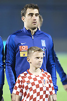 ZAGREB, CROATIA - NOVEMBER 09:  Portrait of Sokratis Papastathopoulos of Greece controls the ball during the FIFA 2018 World Cup Qualifier play-off first leg match between Croatia and Greece at Maksimir Stadium on November 9, 2017 in Zagreb, Croatia. (Sanjin Strukic/PIXSELL)