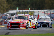 SCOTT MCLAUGHLIN (Shell DJR Penske Ford) leading Jamie Whincup. Adelaide 500 -Virgin Australia Supercars Championship Round 1. Adelaide Street Circuit, South Australia. Sunday 4 March 2018. Photo Clay Cross / photosport.nz