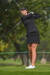 August 23, 2018 - Regina, SK, U.S. - REGINA, SK - AUGUST 23: Brittany Altomare (USA) watches her tee shot on 5 during the CP Women's Open Round 1 at Wascana Country Club on August 23, 2018 in Regina, SK, Canada. (Photo by Ken Murray/Icon Sportswire) (Credit Image: © Ken Murray/Icon SMI via ZUMA Press)