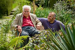 Fergus Garrett and Christopher Lloyd in the exotic garden at Great Dixter