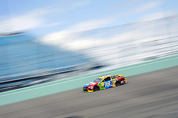 November 17, 2018 - Homestead, Florida, U.S. - Kyle Busch (18) takes to the track to practice for the Ford 400 at Homestead-Miami Speedway in Homestead, Florida. (Credit Image: © Justin R. Noe Asp Inc/ASP)