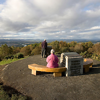 New benches, carvings and paths at Kinnoull Hill, Perth<br /> <br /> Picture by Graeme Hart.<br /> Copyright Perthshire Picture Agency<br /> Tel: 01738 623350  Mobile: 07990 594431