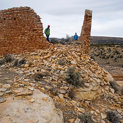 Big House Canyon has many ruins amid the beautiful terrain.