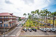 Place des Palmistes is a palm tree lined square in central Cayenne, French Guiana