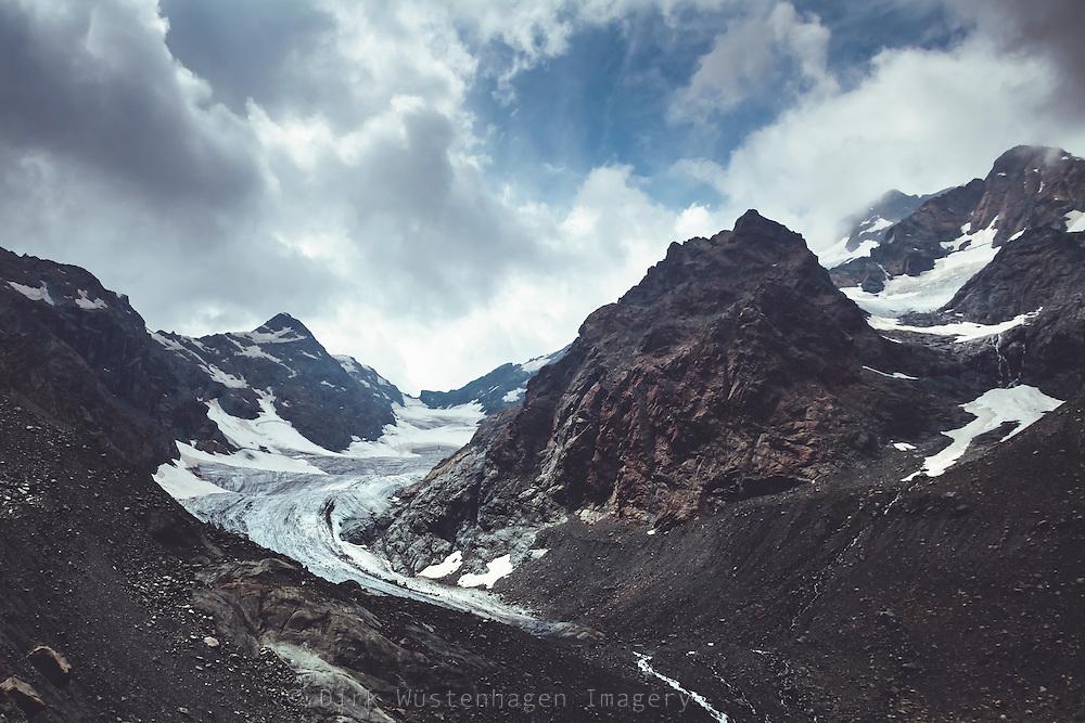 Gletscher in der nähe von Chiaregiio in Valmalenco, Lombardei, Italien