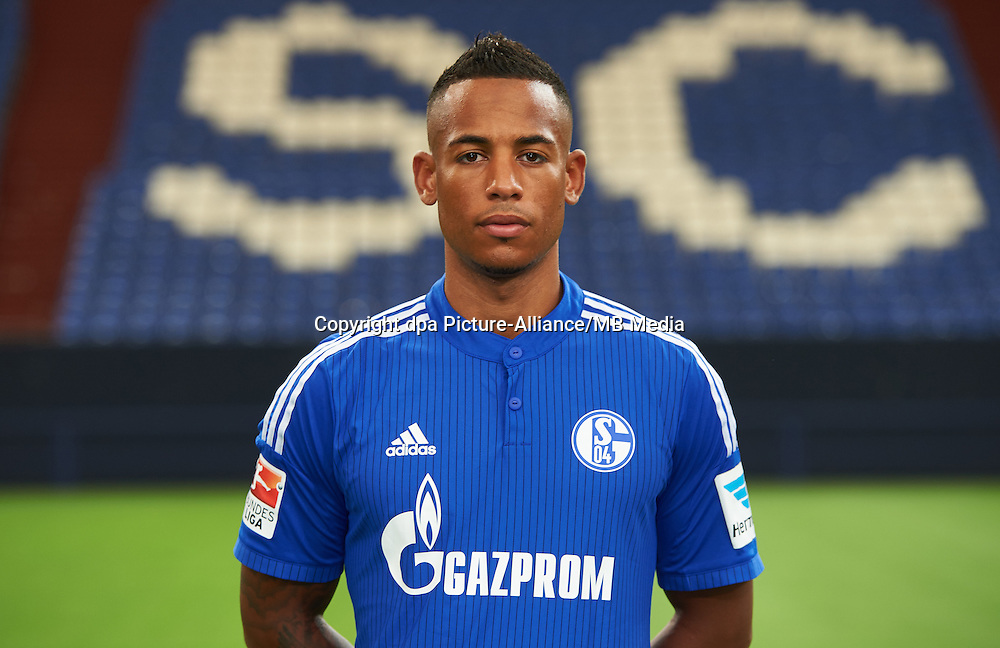 German Soccer Bundesliga 2015/16 - Photocall of FC Schalke 04 on 17 July 2015 in Gelsenkirchen, Germany: Dennis Aogo.