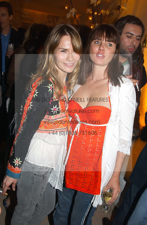 Left to right, The HON.JACKIE PERTWEE wife of actor Sean Petwee and SADIE FROST at a party to celebrate the opeing of the new Paul &amp; Joe Boutique at 134 Sloane Street, London SW1 on 14th April 2005.<br /><br />NON EXCLUSIVE - WORLD RIGHTS