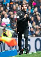 Football - 2018 / 2019 Premier League - Tottenham Hotspur vs. Huddersfield Town<br /> <br /> Jan Siewert, Manager of Huddersfield Town, rallies his team on as thy fall behind at The Tottenham Hotspur Stadium.<br /> <br /> COLORSPORT/DANIEL BEARHAM