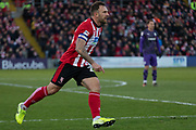 Neal Eardley (23) during the EFL Sky Bet League 1 match between Lincoln City and Tranmere Rovers at Sincil Bank, Lincoln, United Kingdom on 14 December 2019.
